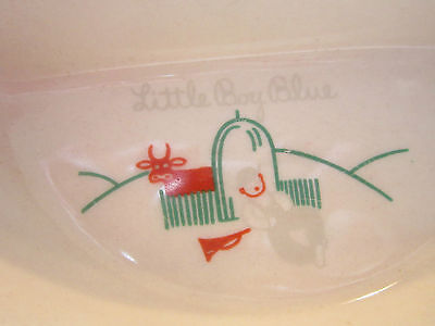Vintage  EXCELLO divided thermal baby dish-3 section bowl,cork,bakelite top