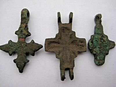 ANCIENT CROSS ENCOLPION Viking Kievan Rus 10-12 century AD 8