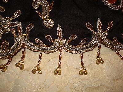 "Ladies /girls Black Poly Silk Saree From The Bollywood Movie ""hum Apke Hai Kown"" 3"