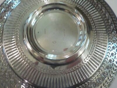 "Watson Sterling Silver Reticulated 8"" Sandwich/Dessert Plate / Tray, #4558 7"
