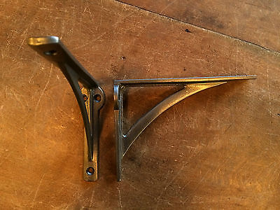 "Pair 6"" x 4"" SMALL INDUSTRIAL ANTIQUE CAST VICTORIAN SHELF BRACKETS ~ BR22p(x2) 5"