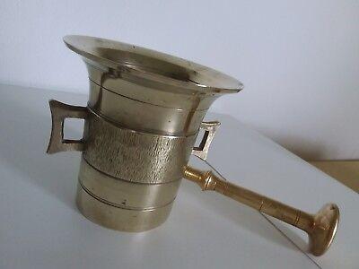 Antiker Apothekenmörser mit Pistill - BRONZE- 19.Jahrhundert / BIEDERMEIER 8