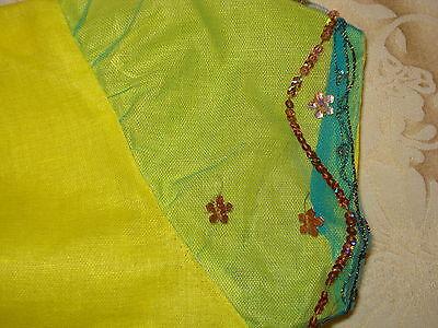 Bn Ladies/girls Net Saree & Blouse With Beadwork & Sequences 10