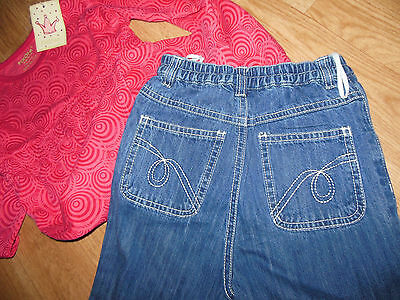 Fixoni girl outfit set top tunic & jeans 2 y 12-18-24 m, 3-4 y BNWT designer 4