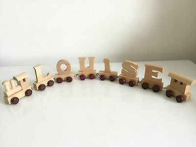 Personalised wooden name train : Use wooden letters to spell a personalised name 7