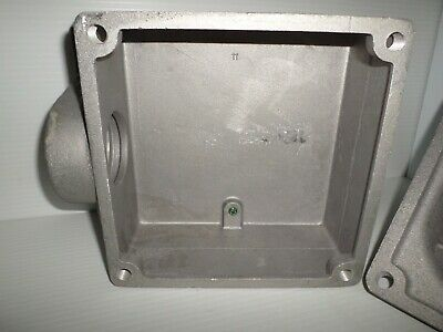 *NEW IN BOX* CROUSE HINDS AJ78 PIN&SLEEVE 200-Amp RECEPTACLE ANGLE BACK BOX 200A 9