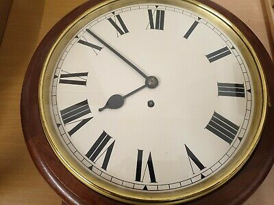 12 inch Unsigned Fusee 8 Day Drop Dial/Station/School  Mahogany Case C1880 11