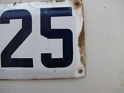 vintage ISRAELI enamel porcelain letter and number א 25 house  sign # 25 א 2