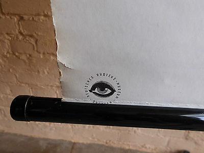 1 x Das Auge, Lehrtafel (1197), gebr. Logo Deutsches. Hygiene Museum Dresden