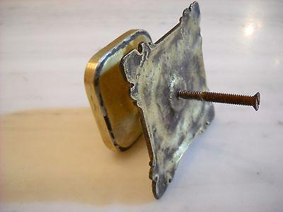 Vintage Greece solid brass large door knob handle D8 4