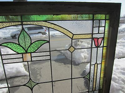 ~ Antique American Stained Glass Window Arts & Crafts ~ Architectural Salvage ~ 7
