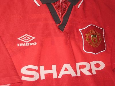 93153032083 ... Umbro Manchester United Eric Cantona  7 Jersey Shirt France Official  1994-1995 3