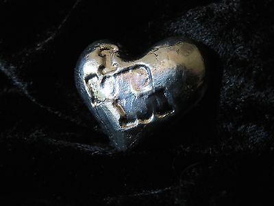 "2 TR/OZ MK BARZ ""I LOVE YOU"" HEART.999 Fine Silver HAND POURED 4"