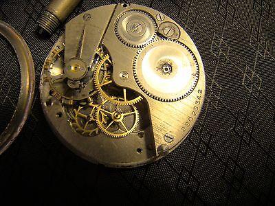 Vintage Elgin Car Clock Pocket Watch Long Stem Case Face Glass Parts or Repair 9