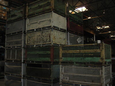"METAL STEEL STACKABLE WAREHOUSE TOTE SHIPPING CRATE 42""x62""x29"" SCRAP YARDS AZ 2"