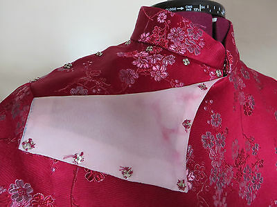 HALF PRICE!!  SILK BROCADE Traditional Oriental Chinese Cheong Sum Dress - L 3