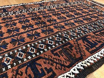 Beautiful Balouch - 1930s Antique Rug - Tribal Carpet - 3 x 5.6 ft. 6