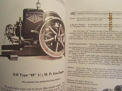 Two 1919 Emerson Brantingham 1 1/2HP Type H Engine Sales/Info  Manuals 3
