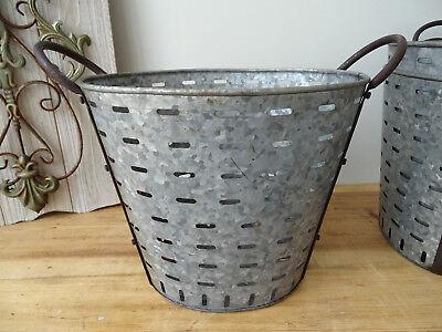 OB005 Large Oliveneimer ~Iron ~Olivenkorb ~ Olive Bucket Washtub Oval 3