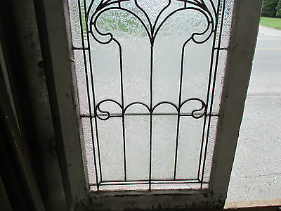 ~ ANTIQUE AMERICAN STAINED GLASS WINDOW ~ 22.75 x 43 ~ ARCHITECTURAL SALVAGE ~ 3