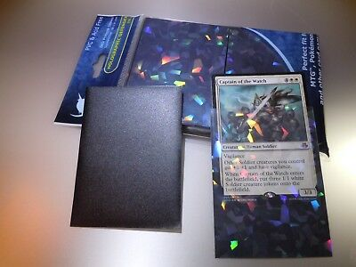 NEW Professional Hologram Card Sleeves Precise Fit for MTG Pokemon 100pack Black 2