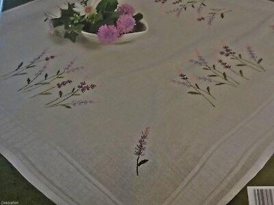 kompl. Stickpackung Tischdecke Mitteldecke vorgezeichnet Frühlingsmotive 80x80cm 3