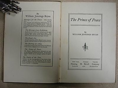 The Prince of Peace by William Jennings Bryan - AUTHOR'S EDITION 2 • CAD $119.70