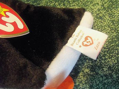 TY Beanie Babies Penguin ** ZERO ** 5th Generation New w/ Tag
