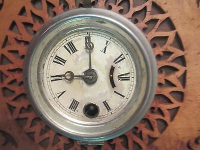 Antique GOTHIC wall clock BLACK FOREST - FRET WORK  bird's eye maple and exotic 3