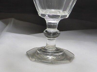 Monogramm Kelchglas geschliffen graviert wohl Böhmen um 1900 (Nr. 1123) 4