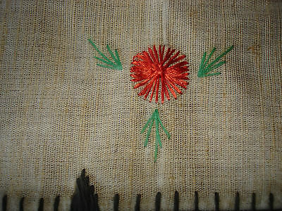 #071  Beautiful Vintage Hand-Embroidered Table Runner 39''/15''(100cm/39cm) 8