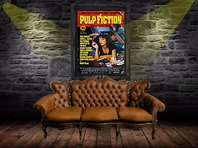 Pulp Fiction 1994 Retro Movie Poster Print A0-A1-A2-A3-A4-A5-A6-MAXI 589 2