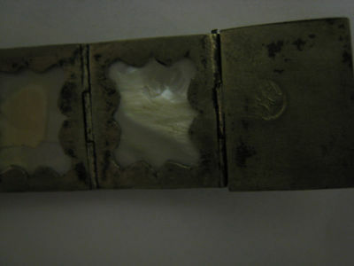 ancien bracelet argent et nacre 8