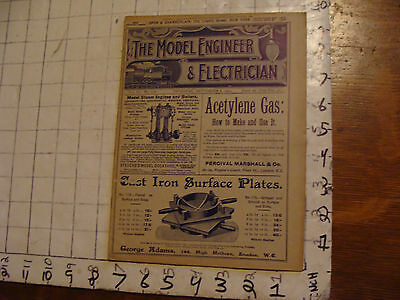 The Model Engineer and Electrician: SEPT 8, 1904 issue; SCARCE MAG