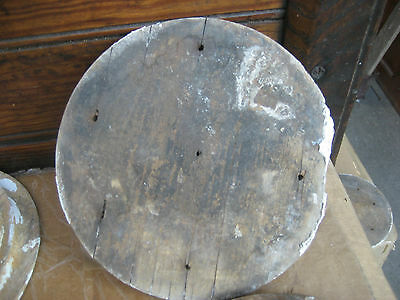 """LARGE victorian age CIRCULAR medallion embellishments OLD paint 6.25"""" dia x 1.25 10"""