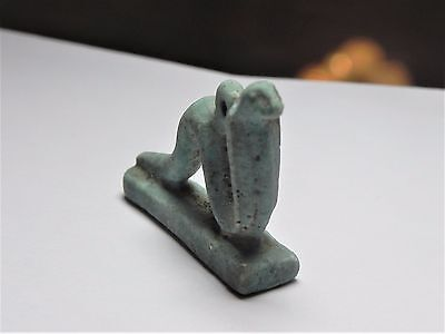 Zurqieh -Af2103- Ancient Egypt , Faience Cobra Amulet.1075 - 600 B.c