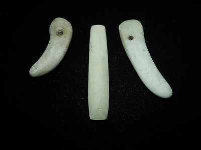 Pre-Columbian Jade Pendan Collectiont, Beautiful Jade, Set of 3, Authentic 11