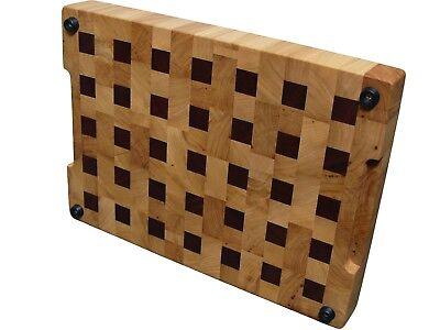 Cutting Board End Grain with Feet, Wooden, Handmade, Butcher Block, Cheese Board 3
