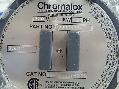 Chromalox Armt0-110E2Ts 120V 1Kw 1Ph Immersion Heater P# 500544549 *New* 4