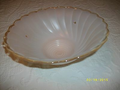 Vintage ceiling light fixture glass shade pearl brown tan color lighting 5
