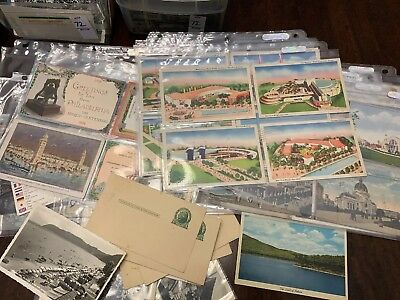 Lot of 50 Antique & Vintage Postcards,1900s-1970s. All USA. Used And Unused !! 2