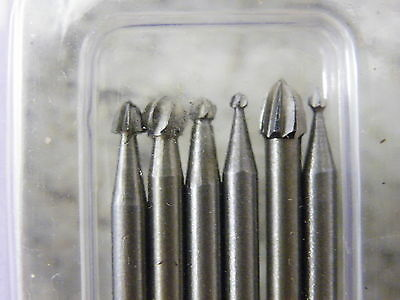 24Pc HSS Carving & Milling Burr Set Suit Dremel & Other Rotary Tools 3133  832 2