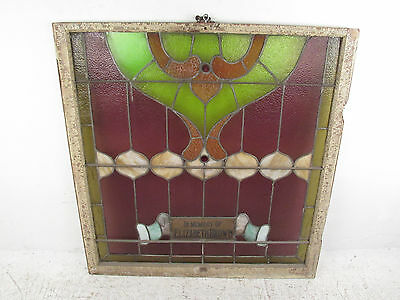 Antique Vintage Hanging Stained Glass Window (1323)NJ 3