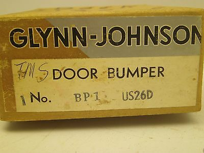 VINTAGE Glynn-Johnson COMMERCIAL DOOR BUMPER STAINLESS ORIG BOX W/HARDWARE BB 5