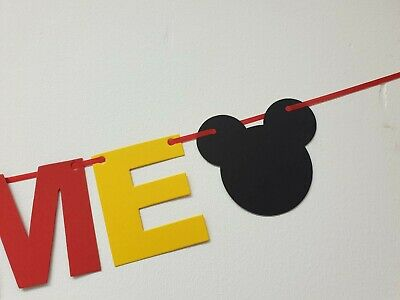 DISNEY REVEAL SURPRISE BANNER BLACK RED YELLOW Were off to Disneyland here we go 9