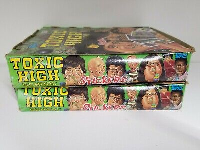1992 Topps Toxic High School Collectible Trading Pack Sticker Box 2 BOX LOT 3