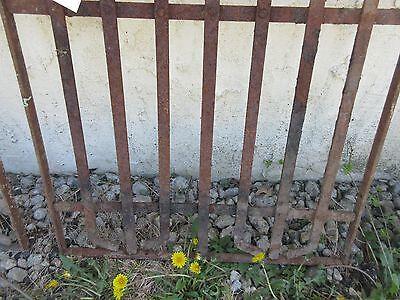 Antique Victorian Iron Gate Window Garden Fence Architectural Salvage Door #385 3