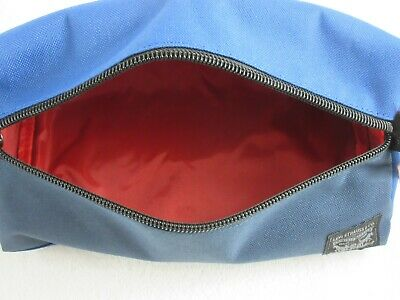 Levi Strauss Zip Up Travel Kit Toiletry Bag Dopp Kit Blue Red Free Ship NWT NR 6