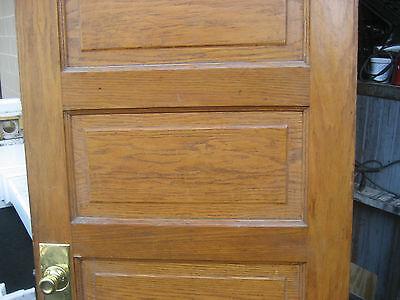 """circa 1900 SOLID oak PANELED door CHICAGO brownstone 83.5"""" x 32"""" x 1.75"""" 4"""