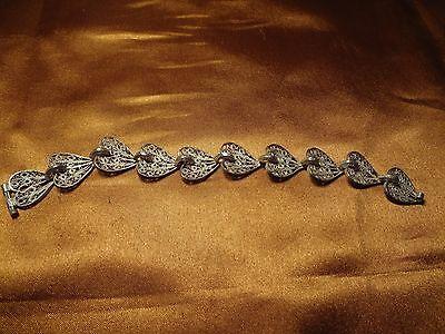 Ottoman Greek Silver Hand Made Filigree Bracelet 5